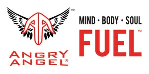 angry angel mind body soul fuel logo