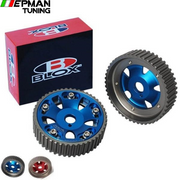2Pcs Adjustable Cam Gears Pulley Timing Gear for Toyota For Supra 1JZ 2JZ,TE IN & EX (Red,Blue) EP-CG1JZ - epman-tuning