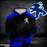 Hoodie Peugeot All Over Print Blue