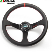 14inch 350mm Epman Deep Corn Drifting PVC Steering Wheel  Universal Car Auto Racing Steering wheels EP-FXP7709 - epman-tuning