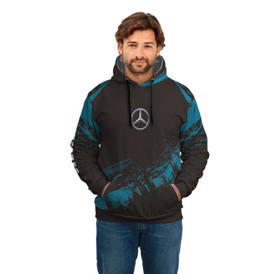 High Quality Custom Hoodie Mercedes Blue