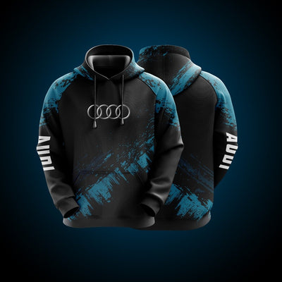TOP High Quality Custom Hoodie Audi Blue