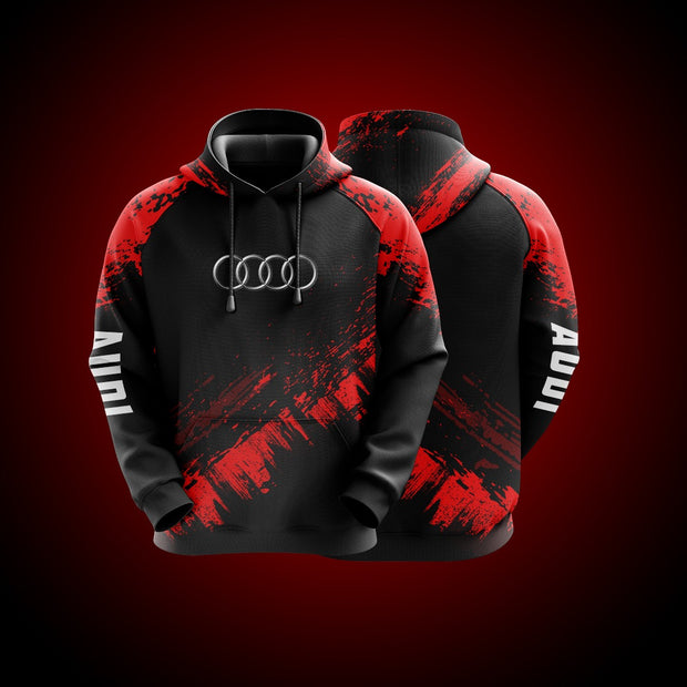Top High Quality Custom Hoodie Audi Red