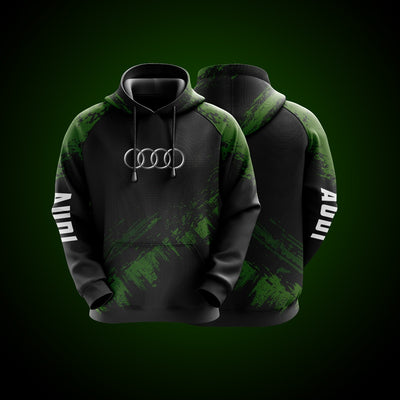 Top High Quality Custom Hoodie Audi Green