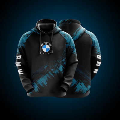 Top High Quality Custom Hoodie Bmw Blue