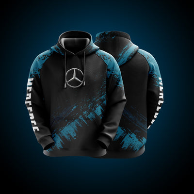 Top High Quality Custom Hoodie Mercedes Blue