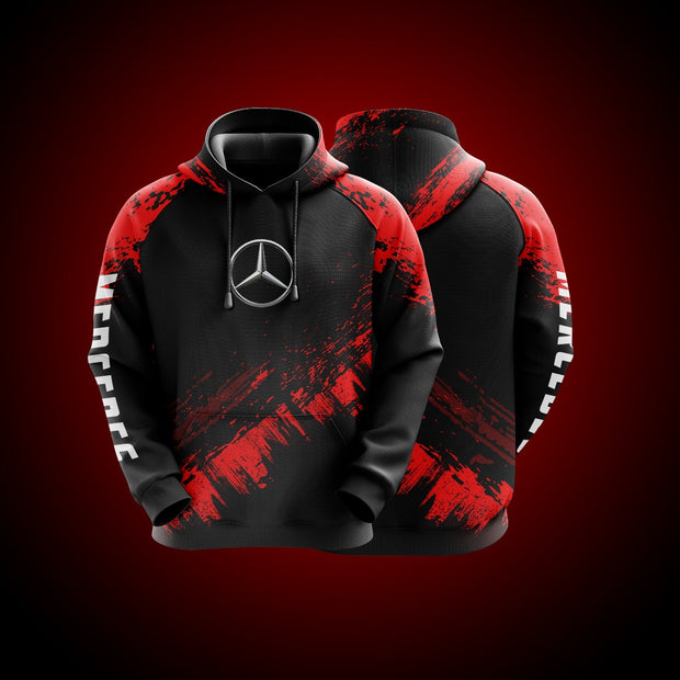 Top High Quality Custom Hoodie Mercedes Red