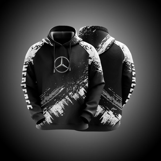 Top High Quality Custom Hoodie Mercedes White