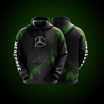 Top High Quality Custom Hoodie Mercedes Green