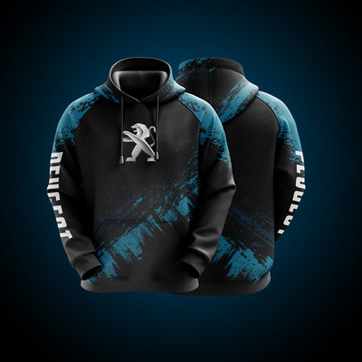 Top High Quality Custom Hoodie Peugeot Blue