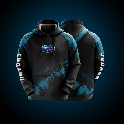 Top High Quality Custom Hoodie Subaru Blue