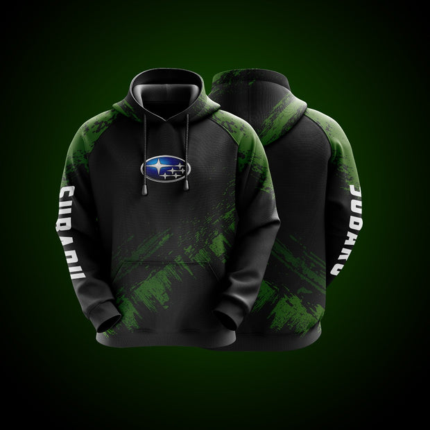 Top High Quality Custom Hoodie Subaru Green