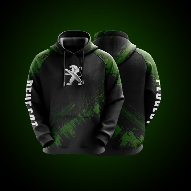 Top High Quality Custom Hoodie Peugeot Green