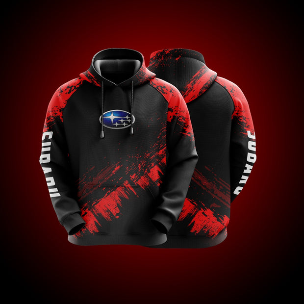 Top High Quality Custom Hoodie Subaru Red