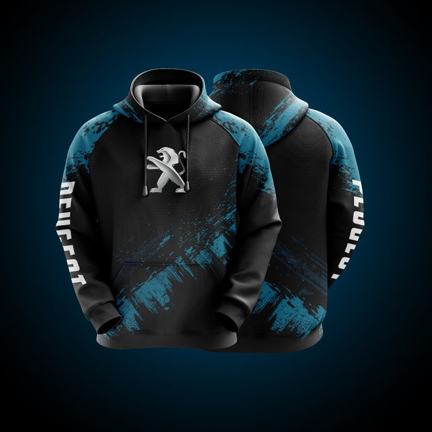 Hight Quality Custom Hoodie Peugeot Blue