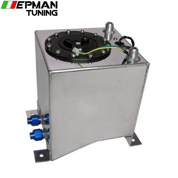 10L Aluminium Surge tank mirror polish Fuel cell foam inside, with sensor EP-YX9438-10 - epman-tuning