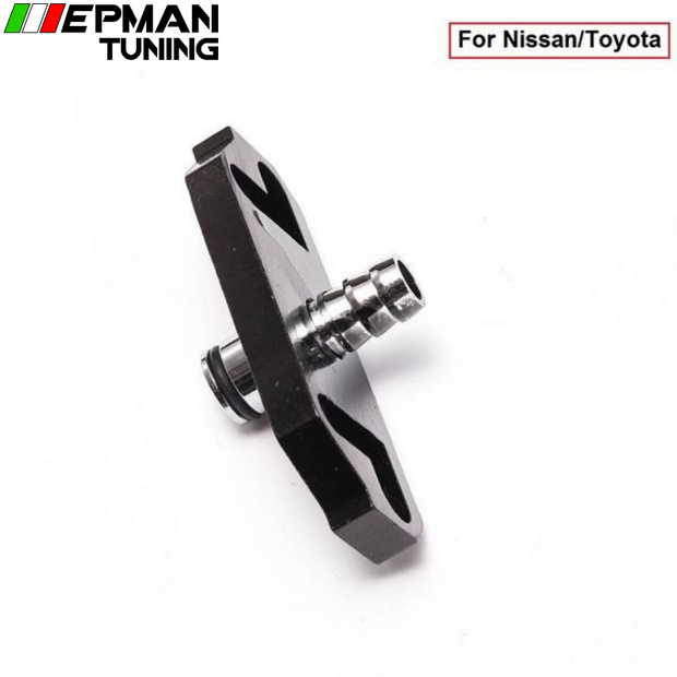 1PC Black Turbo Fuel Rail Delivery Regulator Adapter For Regulator fit for Nissan/Toyota EP-OL6351 (1PC) - epman-tuning