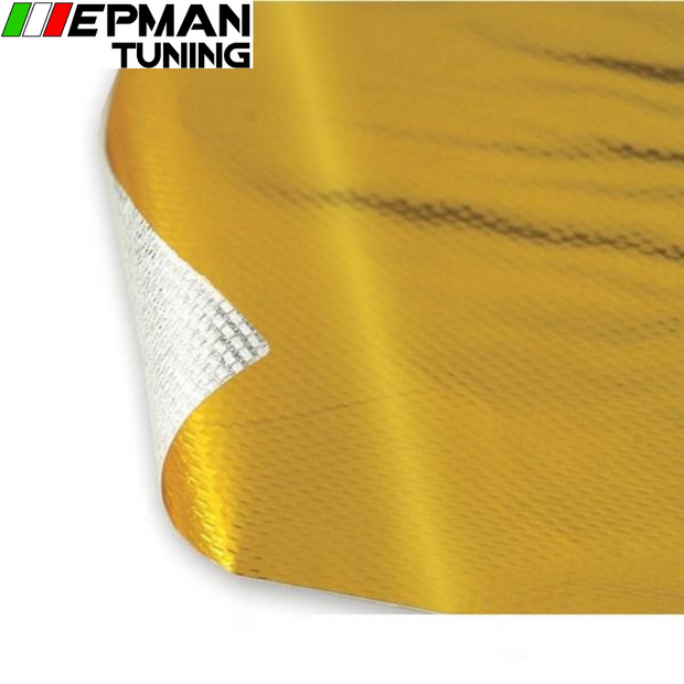 SELF ADHESIVE REFLECT-A-GOLD HEAT WRAP BARRIER High Quality 39in.x 47in.Piece For VW PASSAT AUDI A4 B6 EP-WR19GOLD