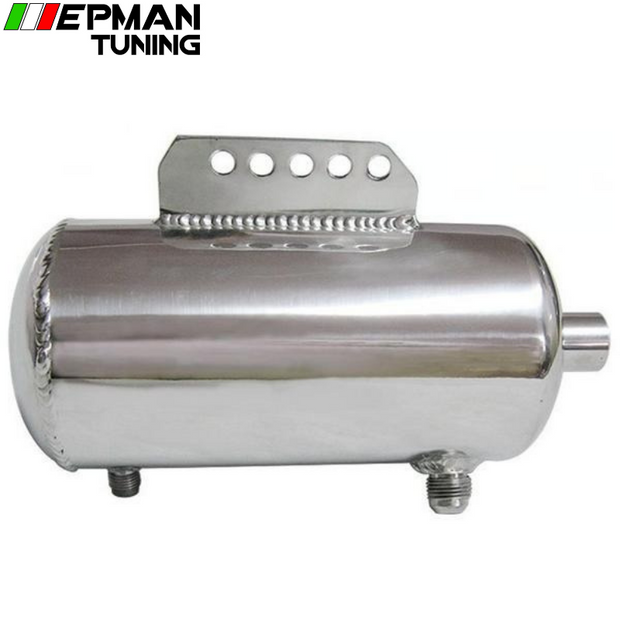Universal Polished Alloy Aluminum 1.5L Fuel Surge Tank AN fittings mirror polished EP-YX9418-15