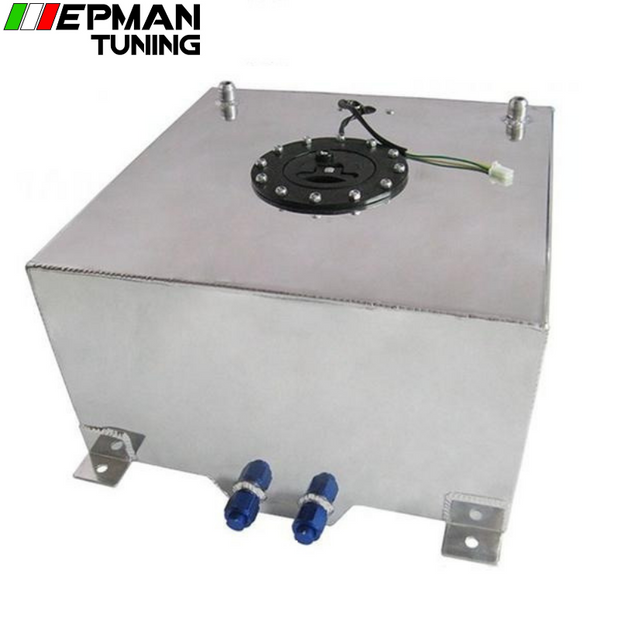 40L Aluminium FUEL CELL TANK polished FUEL LEVEL SENDER AN-10 outlets EP-YX9440-40 - epman-tuning
