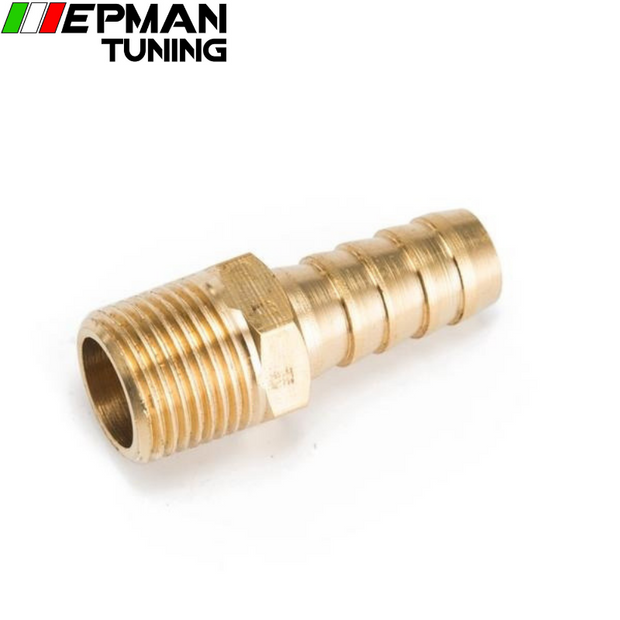 "1/2 inch Hose Barb X 3/8"" NPT - Male Insert Brass Hose Fitting For Fuel pump/Oil cooler For Honda Civic EP-CGQ195 - epman-tuning"