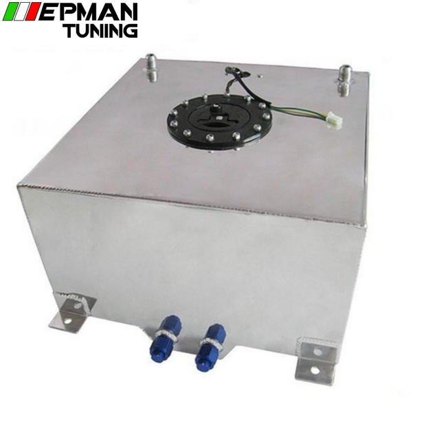 60L POLISHED ALUMINUM RACING/DRIFT/STREET FUEL CELL GAS TANK+LEVEL SENDER EP-YX9441-60 - epman-tuning