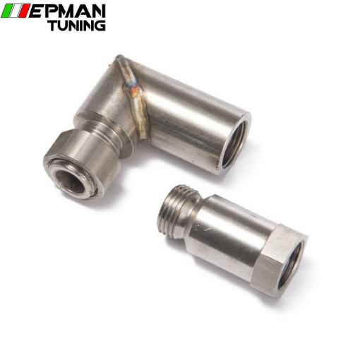 Car Exhaust O2 oxygen sensor angled extender spacer 90 degree 02 bung extension M18 X 1.5 EP-CGQ83