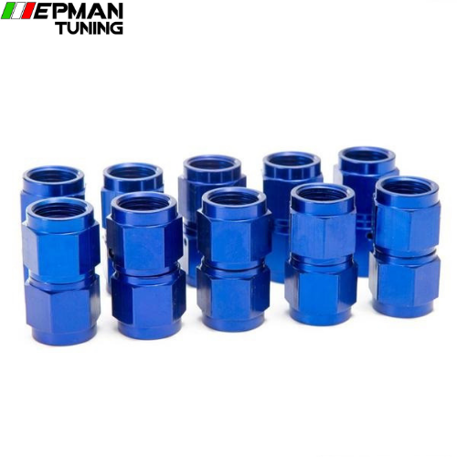 10PCS/SET Blue AN6 Universal Fuel Oil  Fitting Aluminum Hose End Adaptor 2 Side Female Fitting EP-2TMAN6 - epman-tuning