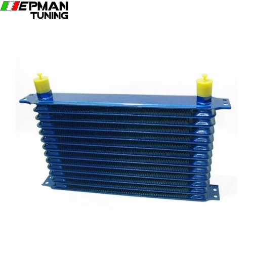13rows 50mm thick aluminium universal TRUST DESIGN engine or gearbox oil cooler EP-OC13BL - epman-tuning