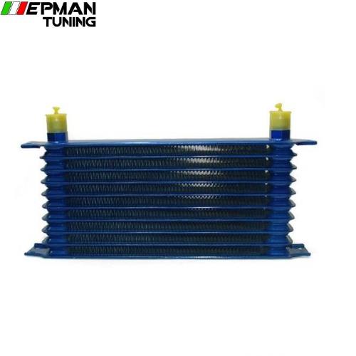 10rows 50mm thick aluminium universal TRUST TYPE oil cooler EP-OC10BL - epman-tuning