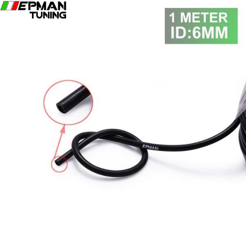 1Meter 6mm High Performance Silicone Vacuum Hose Black For BMW MINI Cooper S R53 KIT 2001-2006 EP-VS-6-1M - epman-tuning