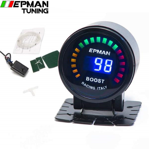 "2"" 52mm Digital Color Analog LED PSI/BAR Turbo Boost Gauge Meter W' Sensor Monitor Racing Gauge FOR BMW M3 EP-GA50BOOST - epman-tuning"