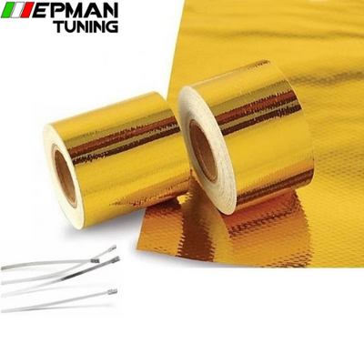 "2""x5 Meter Roll SELF ADHESIVE REFLECT A GOLD HEAT WRAP BARRIER Hot Selling New For BMW E36 Z3/318I/IC/IS/TI EP-WR20DJGOLD - epman-tuning"