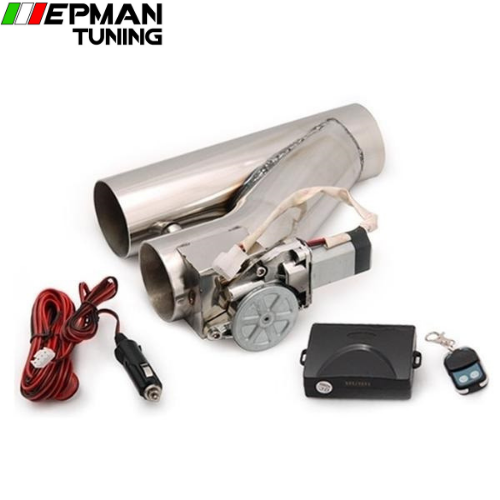 "2.25"" Stainless Steel Motorized Electric Exhaust Cutoff Bypass Valve Cutout+Remote For VW Golf GTI MK2 EP-CUTNEW225 - epman-tuning"