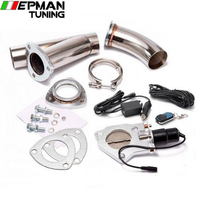 2.5 INCH EXHAUST CUTOUT ELECTRIC DUMP Y-PIPE CATBACK CAT BACK TURBO BYPASS STEEL For BMW e46 EP-CUTOUT25 - epman-tuning