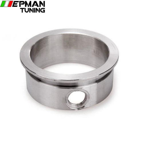 "Flange 3"" V-Band Flange with Integrated O2 Bung Port, Stainless Steel ,wideband port EP-CGQ114Z"