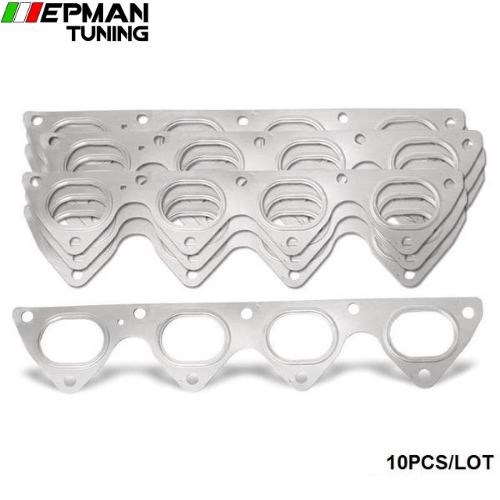 10PCS/LOT 3 Layer Stainless Steel Exhaust Manifold Header Gasket For Honda Integra Civic Crx B16 B16A B18 EP-CGQ121D - epman-tuning