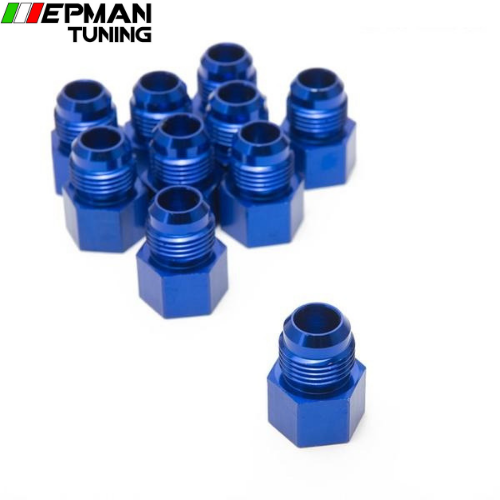 10PCS/LOT Fitting Flare Reducer Female -1/8NPT to Male -8AN Blue Oil/Fuel Fitting 8ANW-1/8NPTN - epman-tuning