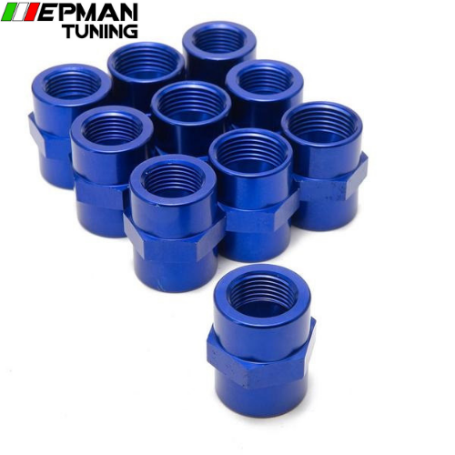 10PCS/LOT Fitting Flare Reducer Female -12 AN to Female -10 Blue Flare Reducers Alloy Fitting 10ANN-12ANN - epman-tuning