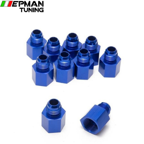 10PCS/LOT Fitting Flare Reducer Female-10 AN to Male -8 ANBlue Flare Reducers Alloy Fitting 8ANW-10ANN - epman-tuning