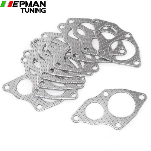 10PCS/LOT For Mitsubishi EVO 1-3 / 4G63 Aluminum Graphite Turbo to Downpipe Gasket EP-CGQ130S - epman-tuning