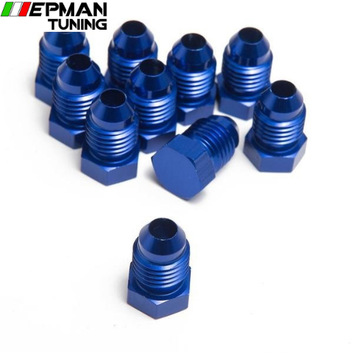 10PCS/LOT Oil cooler fitting BLUE,H Q AN4-ONE - epman-tuning