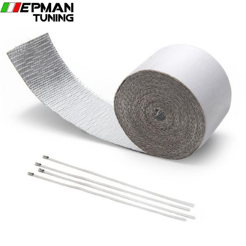 Car Aluminum Reinforced Tape Adhesive Backed  Heat Shield Resistant Wrap For All Intake pipe For BMW E30 M20 325 EP-WR12DJ