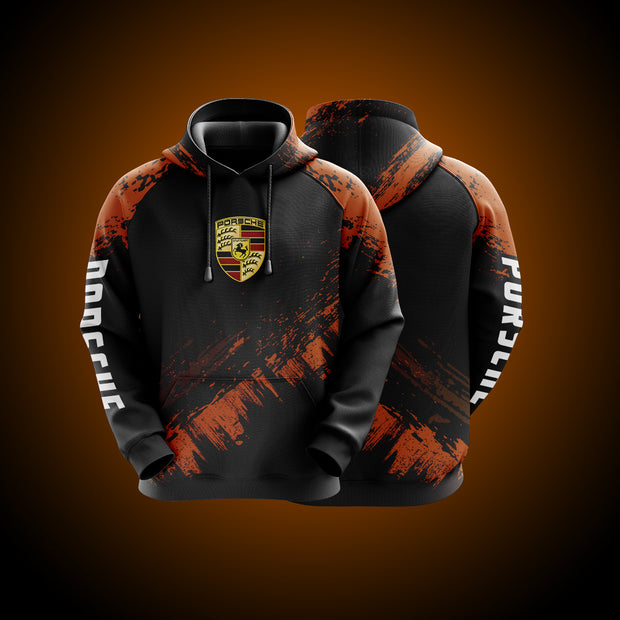 High Quality Design Porsche Hoodie Orange