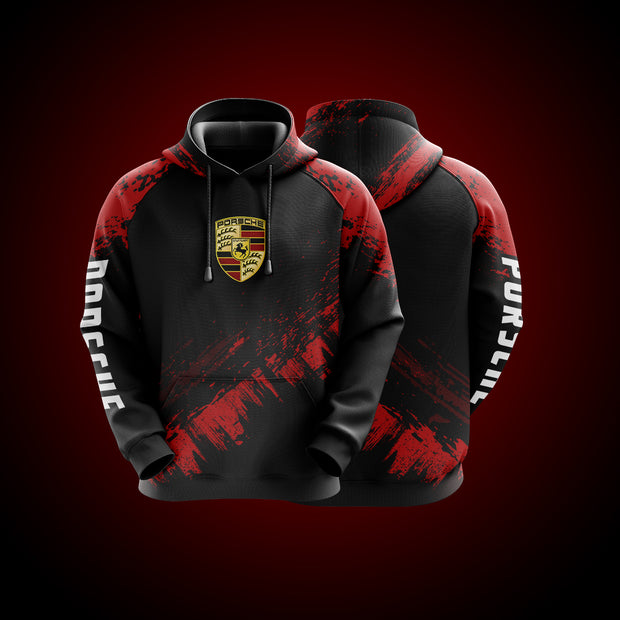High Quality Design Hoodie Porsche Red