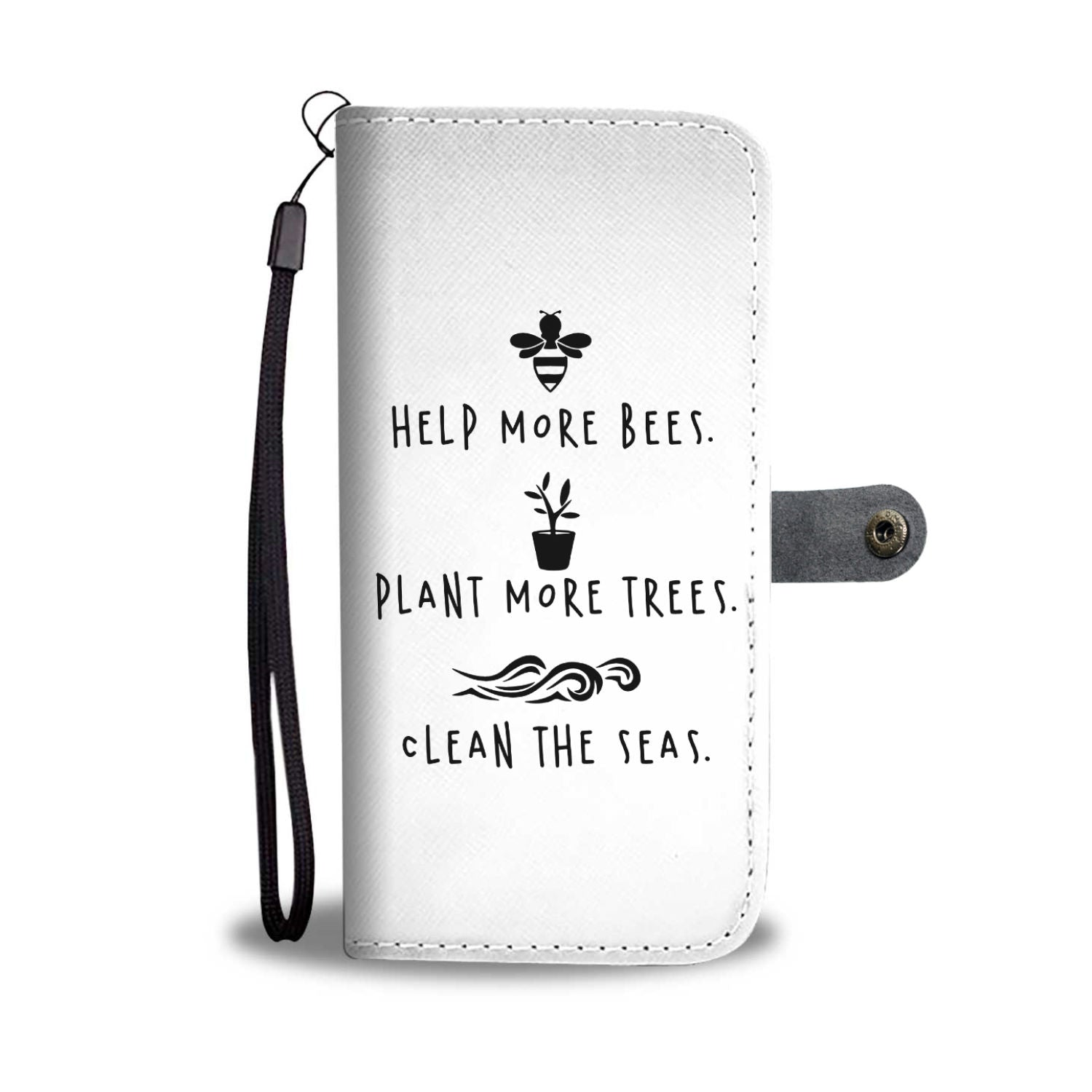 Bees, Trees and Seas Phone Wallet Case - 70+ Phone Models Supported