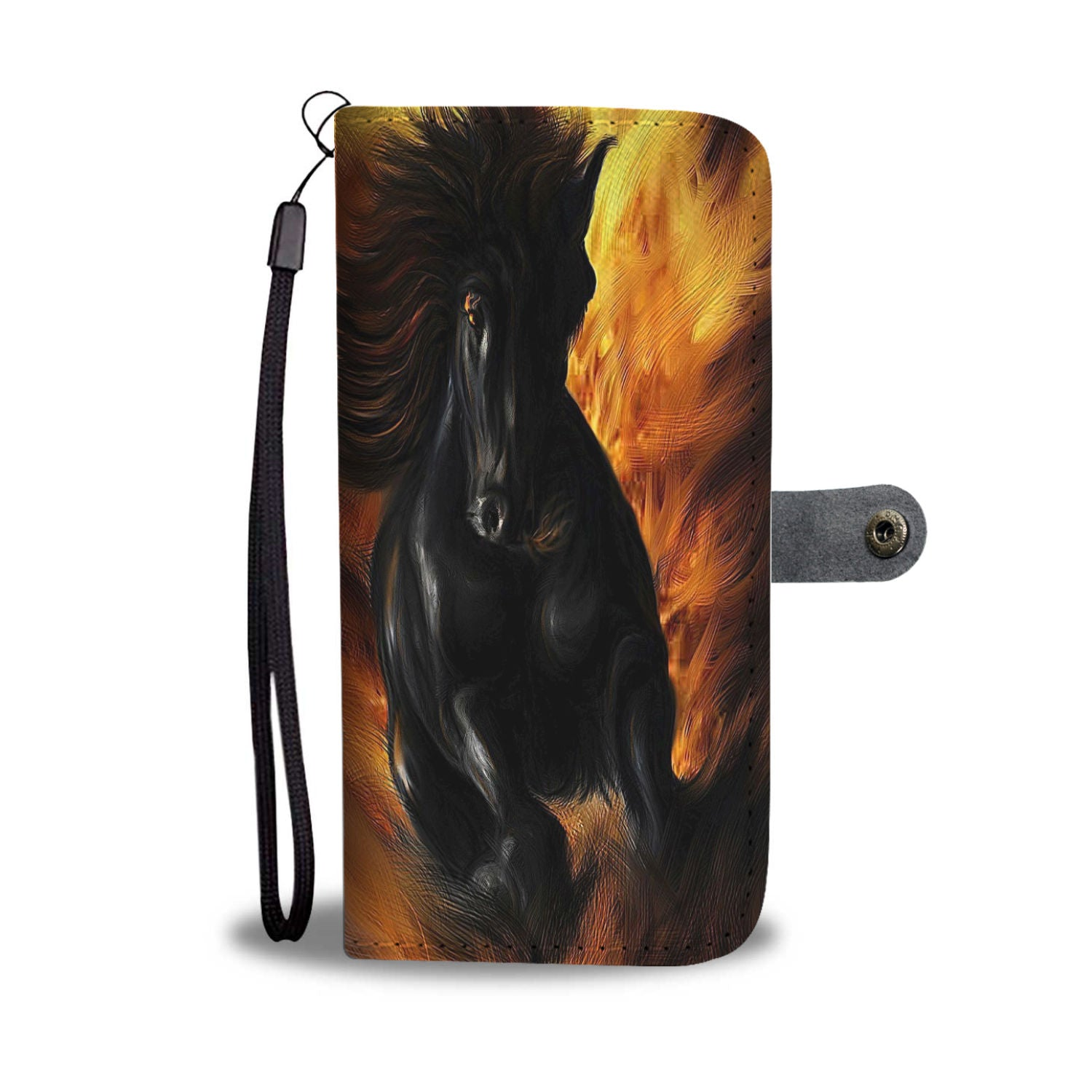 Fire and Ice Horse Lovers PHONE WALLET CASE - 70+ PHONE MODELS SUPPORTED