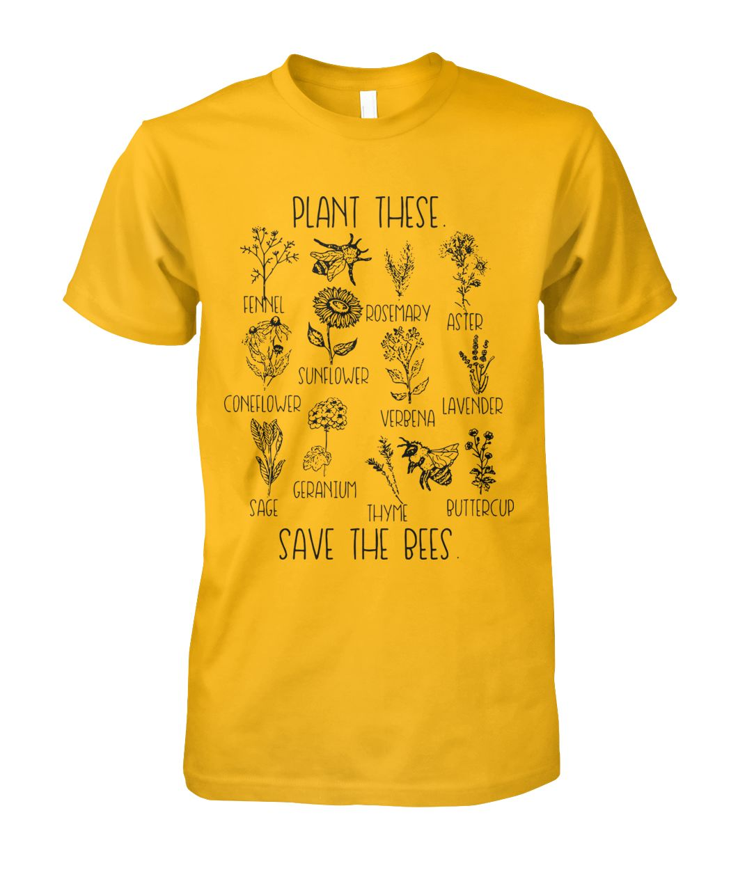 Plant These, Save The Bees T-Shirt