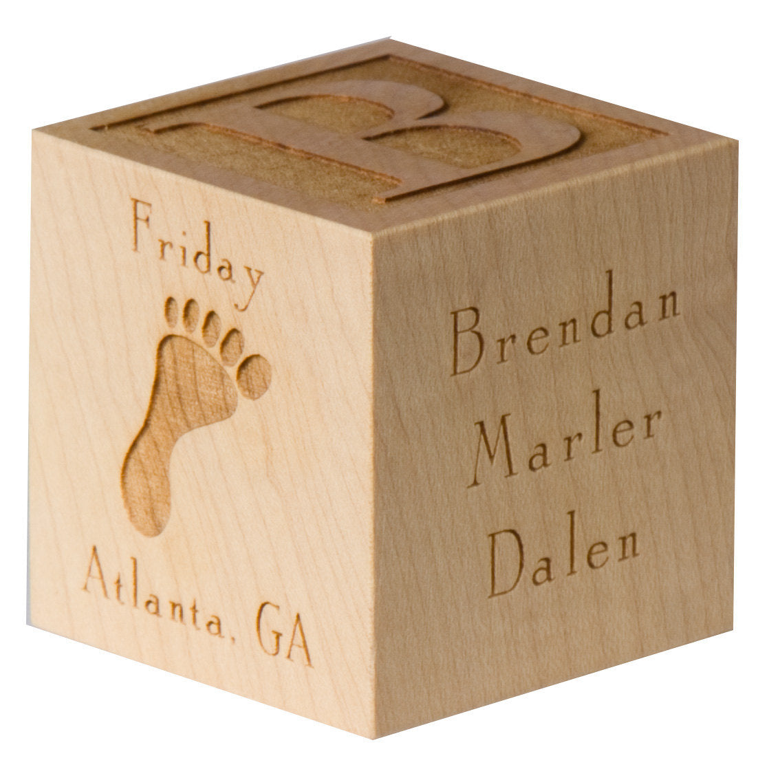 Personalized Engraved Baby Block