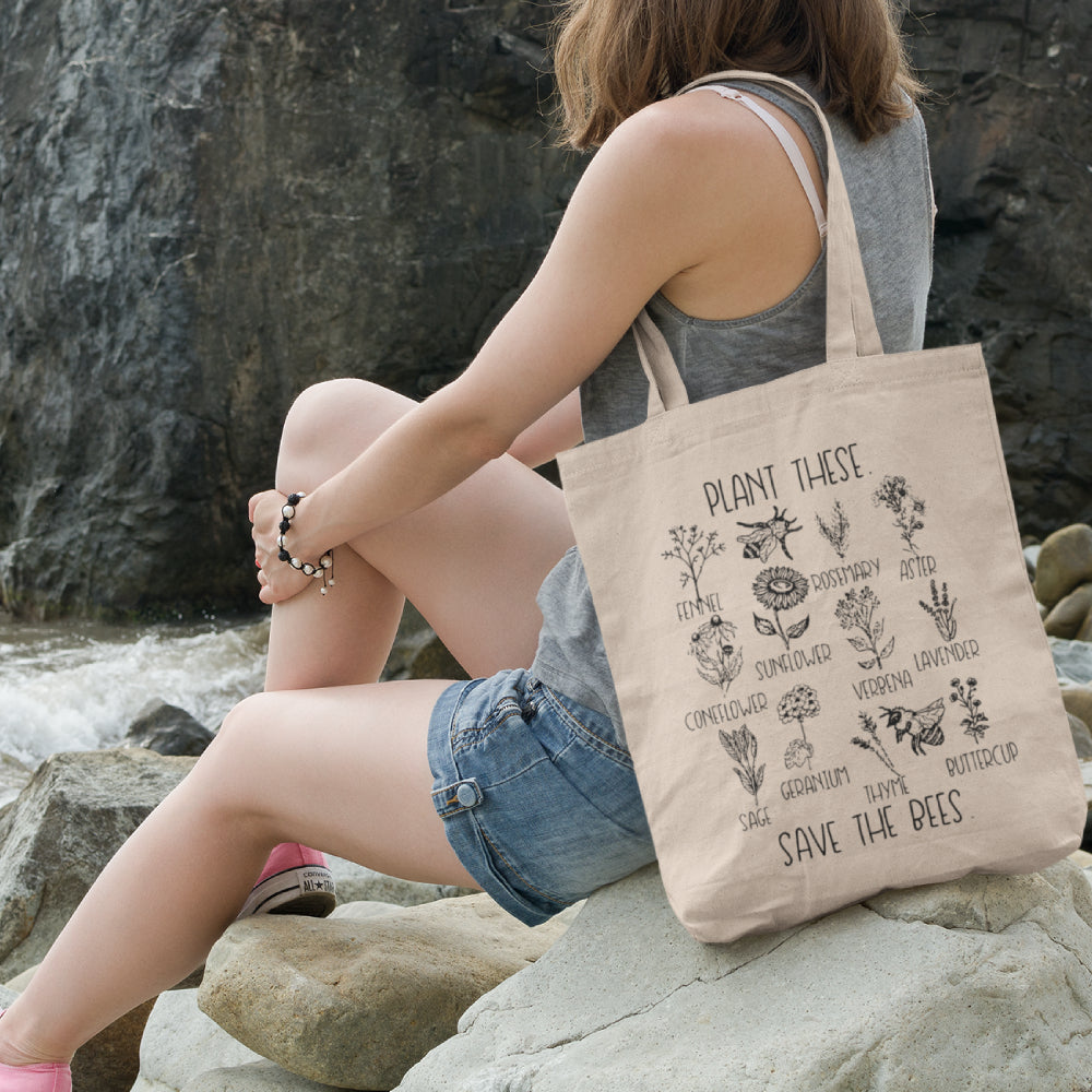 Plant These Save Bees Tote Bag